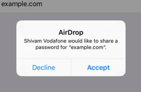 Apple AirDrop Password Sharing